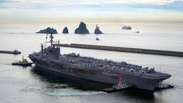 eu coreadelsur desplegar portaaviones ensayo norcoreano