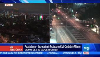 Protección Civil reporta los primeros daños tras sismo en CDMX