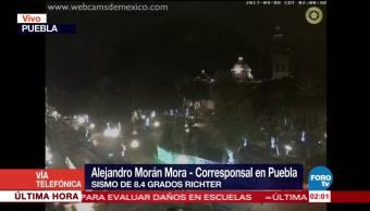 Puebla no registra daños tras sismo en la Ciudad de México