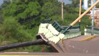 Daños en el Puente de Ixtaltepec, Oaxaca, tras sismo del 23 septiembre