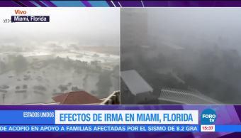 Ráfagas Viento Miami Intensifican Ciudad De Miami Florida