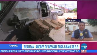 Realizan Labores Rescates Chiapas Sismo 8.2