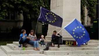 manifestantes antibrexit protestan en le parlamento