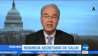 Renuncia Secretario Salud Estados Unidos Tom Price