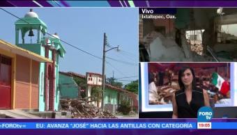 Reportan daños en 80% de los inmuebles de Ixtaltepec Oaxaca