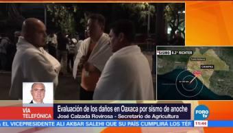 Secretario de Agricultura hace balance de daños en Oaxaca tras sismo