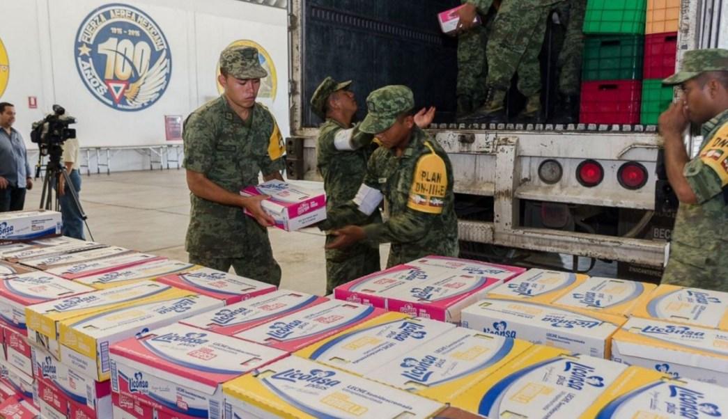 Sedena continúa con el envío de víveres para los damnificados en Oaxaca