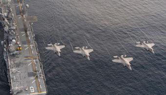 cazas bombarderos eu simulan ataque corea