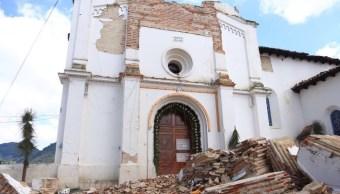 sismo dano 300 inmuebles informan inah y secretaria cultura