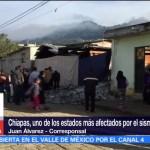 Sismo deja más de dos mil viviendas dañadas en Chiapas