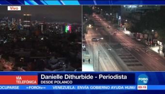 Sismo paraliza zona de Polanco en la Ciudad de México