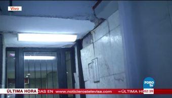 Sismo provoca fisura en oficinas de la SEP