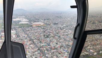 Sobrevuelo desde el helicóptero de Noticieros Televisa