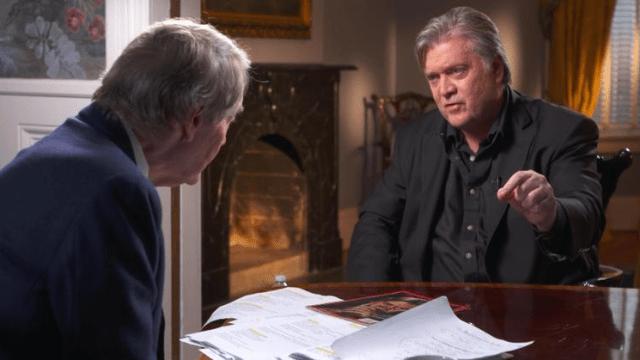 Steve Bannon concedió una entrevista a CBS