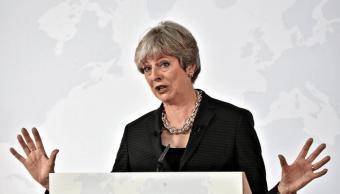 Theresa May ofrece un discurso en Florencia, Italia
