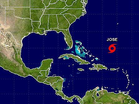 Huracán 'José' se debilita a tormenta tropical, pero se fortalecerá de nuevo