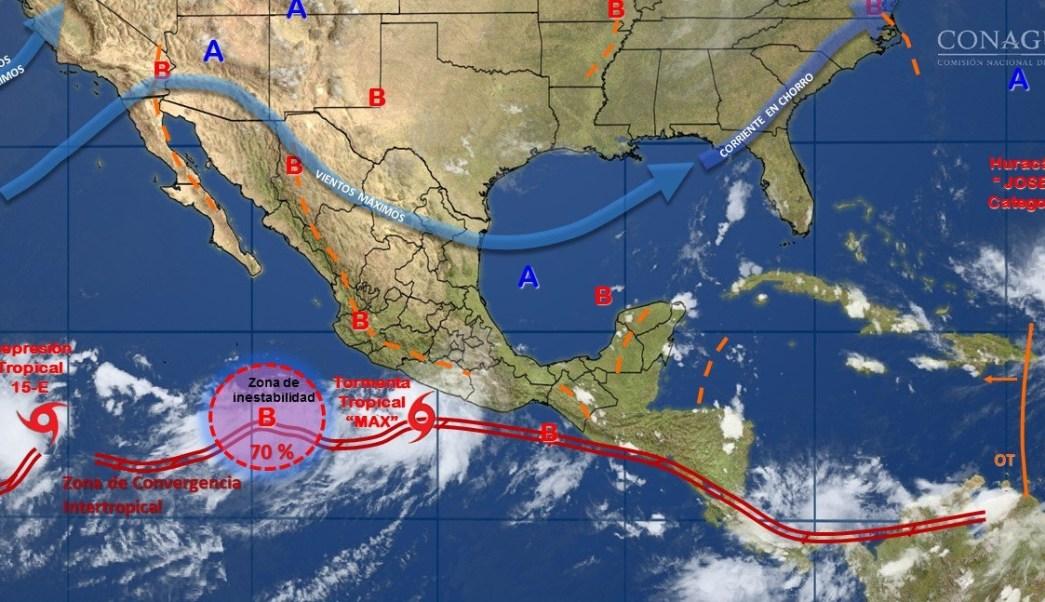 Tres sistemas tropicales se forman en el Pacífico mexicano