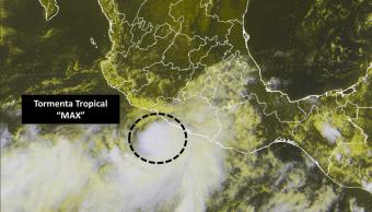 Tormenta tropical Max amenaza lluvias Oaxaca Guerrero