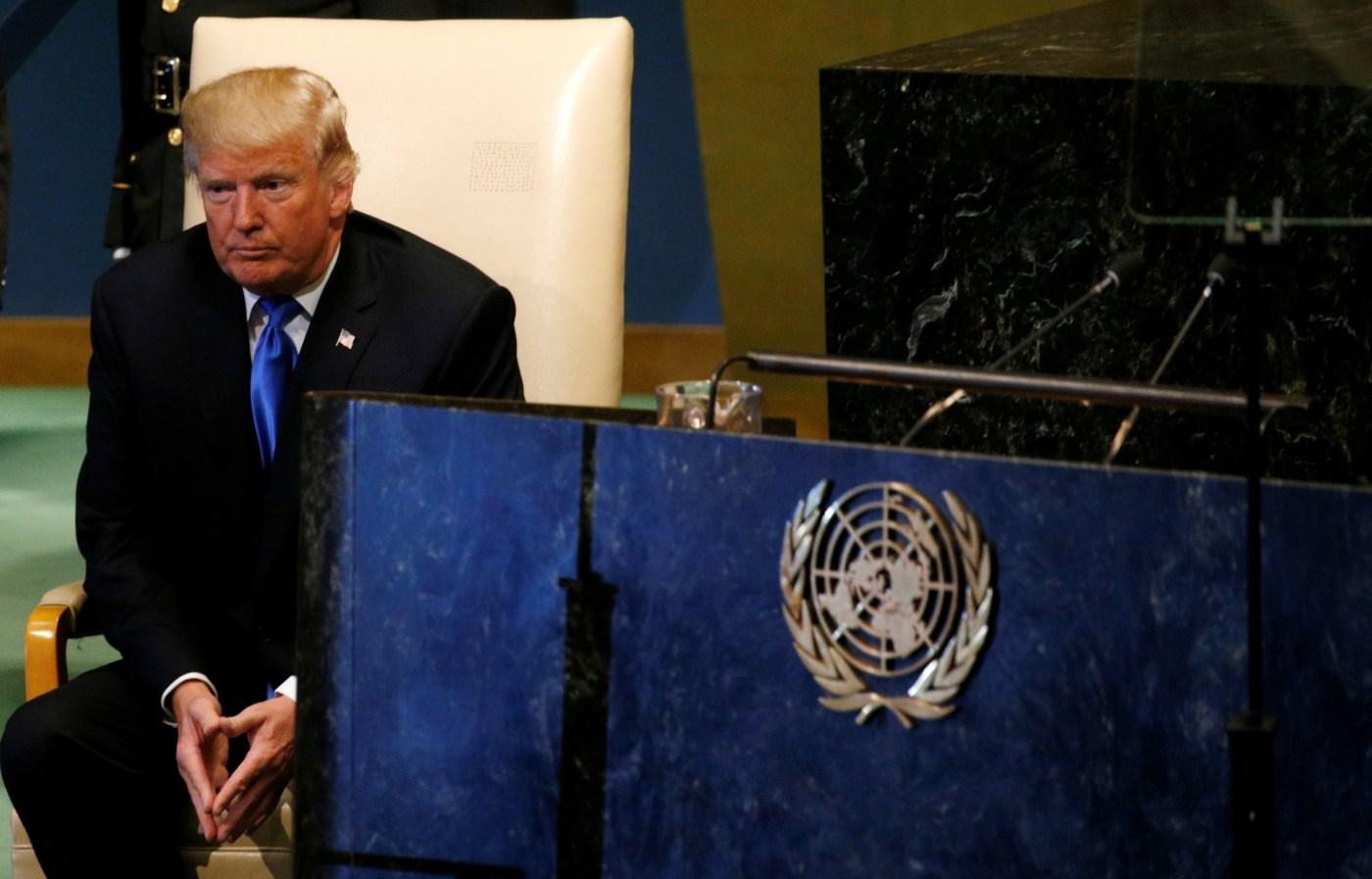 Resultado de imagen para Trump en la ONU contra el resto del mundo