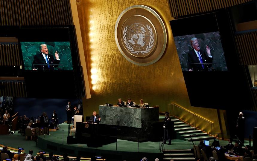 Donald Trump ofrece su primer discurso ante la Asamblea de la ONU