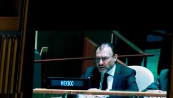 Videgaray informa en ONU que ayuda internacional está en camino tras sismo