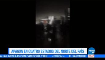 Video Muestra Centro Comercial Luz Apagón Noroeste México