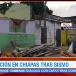 Viviendas en riesgo tras réplicas del sismo del jueves en Chiapas