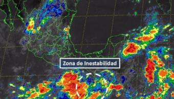 Mapa de la zona de inestabilidad frente a costas de Chiapas