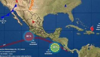 Alerta preventiva en Colima por zona de inestabilidad