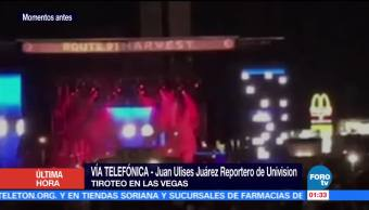 Se registra tiroteo en un festival de música en Las Vegas