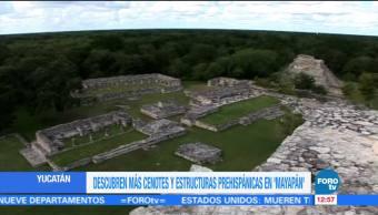 Descubren más cenotes y estructuras prehispánicas en Mayapán