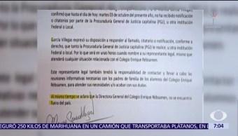 Mónica García Villegas, directora del colegio Rebsamen, dice que no recibió citatorio