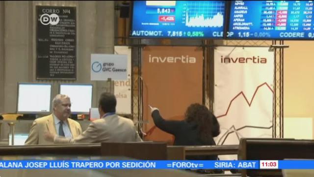 Conflicto de Cataluña afecta a la Bolsa de Madrid