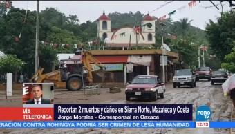 Reportan dos muertos en Oaxaca por lluvias de la tormenta 'Ramón'