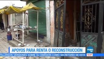 Damnificados del sismo en Xochimilco reciben apoyo económico
