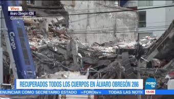 Recuperados todos los cuerpos en Álvaro Obregón 286