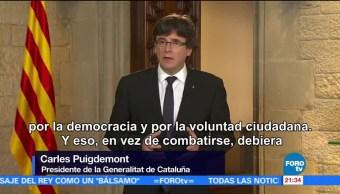 España rechaza mediación en crisis con Cataluña