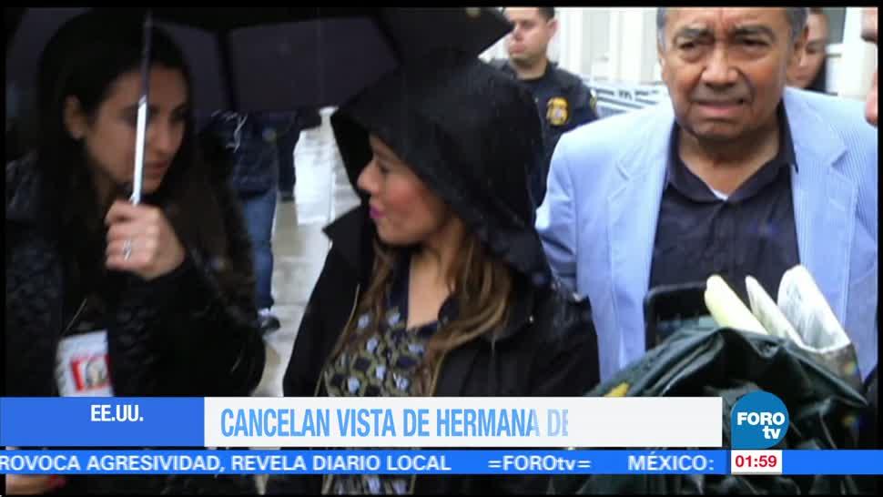Cancela visa a hermana de 'El Chapo'
