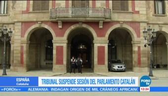 Tribunal Constitucional suspende la sesión del Parlamento catalán