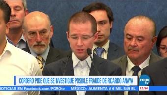 Ernesto Cordero pide investigar si Ricardo Anaya cometió fraude