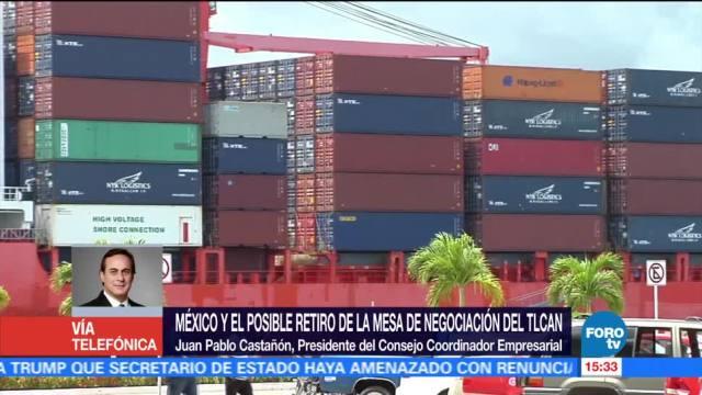 México está dispuesto a construir con EU sobre TLCAN, dice presidente CCE
