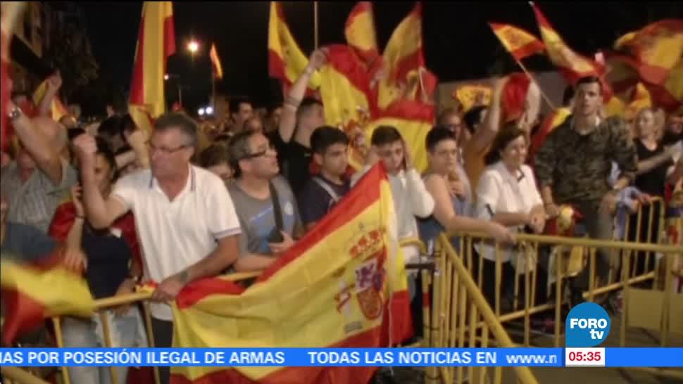 Suspenden declaración de independencia en Cataluña