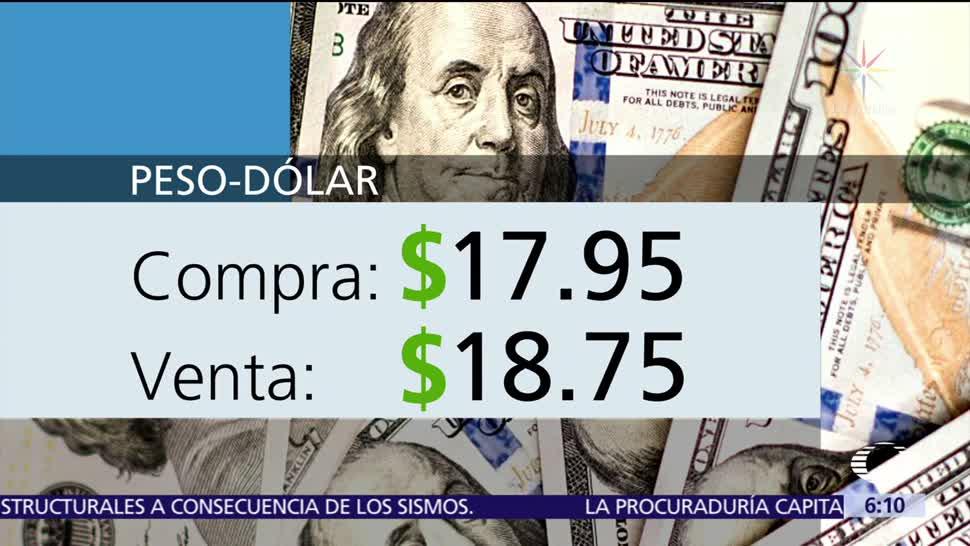 El dólar se vende en $18.75