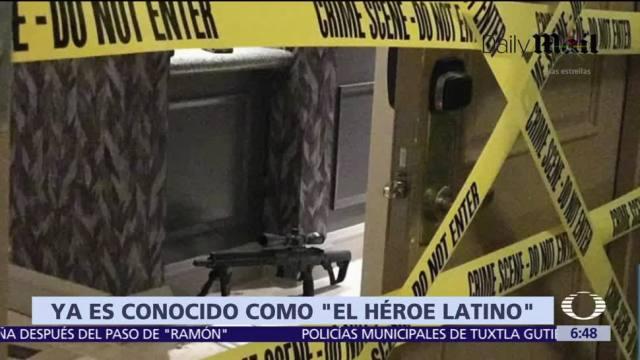 Jesús Campos, guardia latino, distrajo a Stephen Paddock; lo consideran un héroe