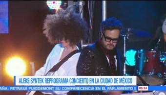 Aleks Syntek pospone concierto en la Condesa