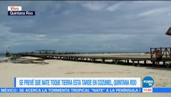 Tormenta 'Nate' se acerca a Cozumel; tocaría tierra esta tarde