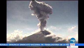 Actividad del Popocatépetl provoca caída de ceniza en Edomex Puebla y Tlaxcala