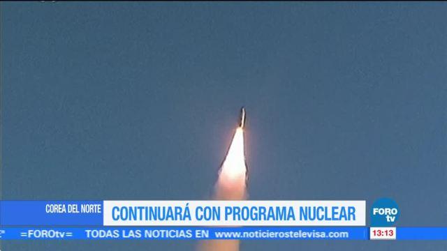 Kim Jong un anuncia que seguirá desarrollando armas nucleares