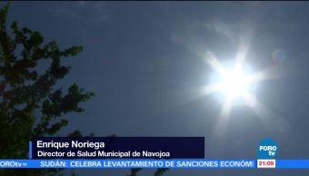 Sonora reporta temperaturas de 44 grados a la sombra