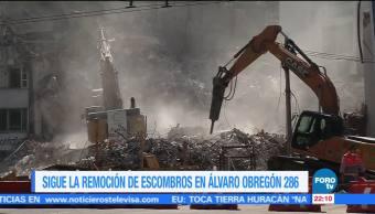 Trabajos para demoler inmueble en Álvaro Obregón permanecen